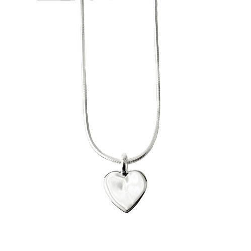 Chris Lewis Flat Heart Pendant Polished