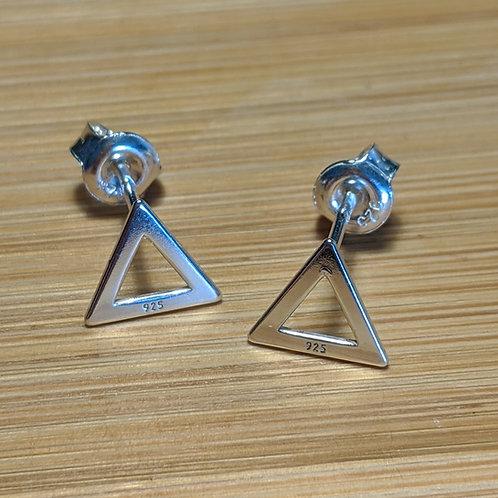 Mini Triangle Stud Earrings Silver
