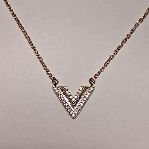 Geometric Triangle Pendant Rose Gold