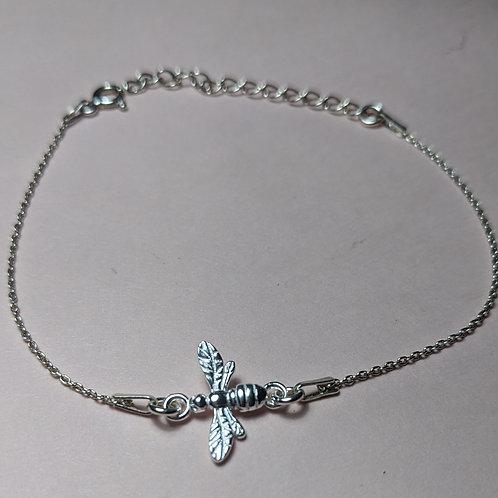 Silver bee bracelet