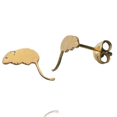 Amanda Coleman Field Mouse Studs Gold