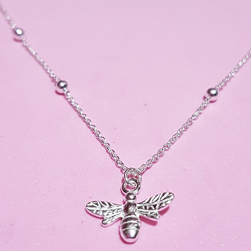 Mini bee pendant on a bead chain