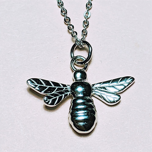 Silver Manchester Bee Pendant