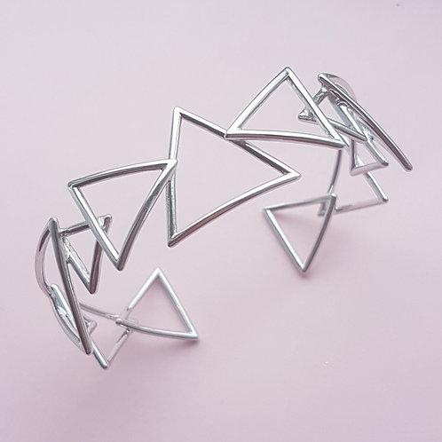 Three Peaks Silver Cuff Bracelet
