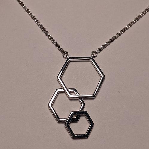 Silver Hexagon Pendant
