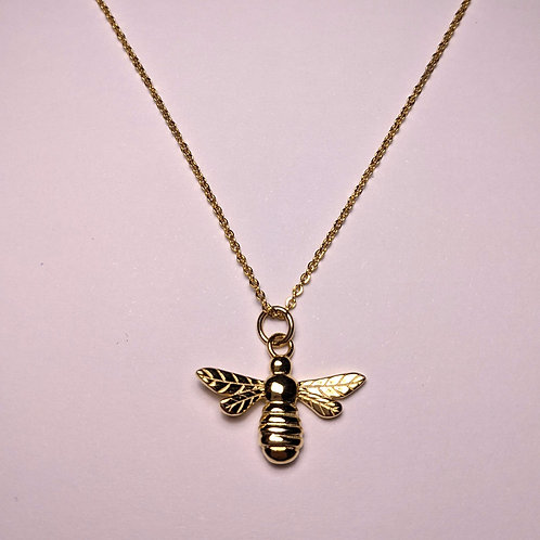 Manchester Bee Pendant Rose Gold