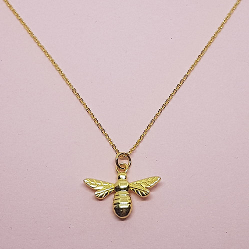 Manchester Bee Pendant 9ct yellow Gold