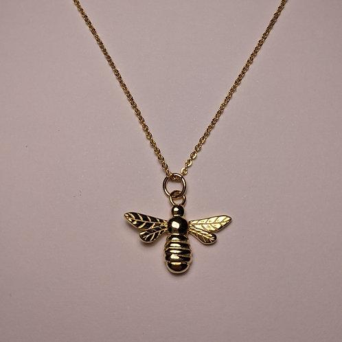 Mini Bee Pendant Gold