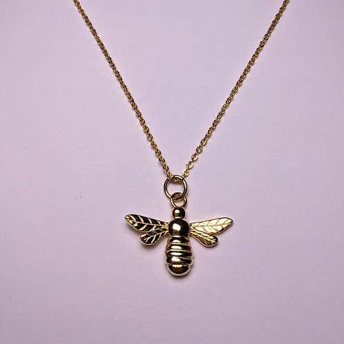 Manchester Bee Pendant Gold