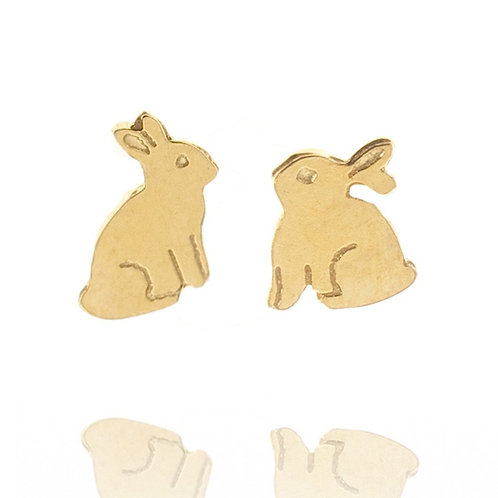 Amanda Coleman Bunny Stud Earrings Gold