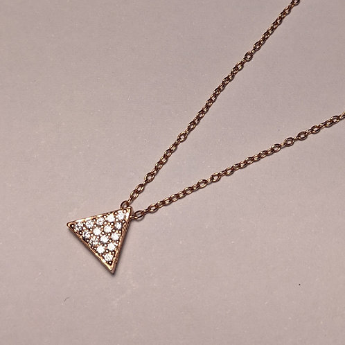 Triangle CZ pendant rose gold