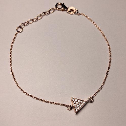 Triangle CZ Bracelet Rose Gold