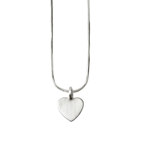Chris Lewis Flat Heart Pendant Satin
