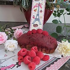 Cake aux framboises - Raspberry cake (serving 6-8)