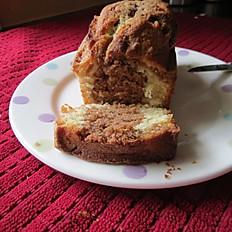 Cake marbé chocolat-vanille - Marble cake chocolate-vanilla (serving 6-8)