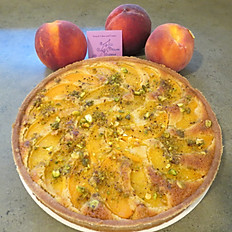 Organic Almond Peaches with PistachiosTart