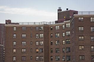 Public housing project apartment buildin