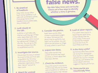 DNA and Facebook launch fake news informational campaign