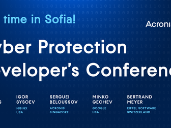 Acronis Cyber Protection Developer's Conference