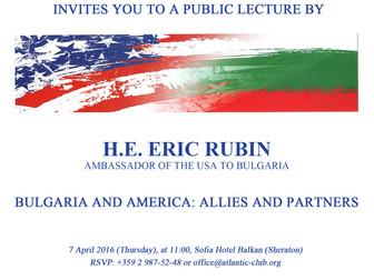 Публична лекция на посланикът на САЩ - Ерик Рубен