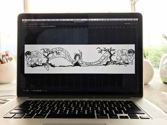 """Proceso, diseño ilustracion de """"via crusis"""""""