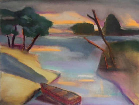 """""""Red Boat in Summer"""""""