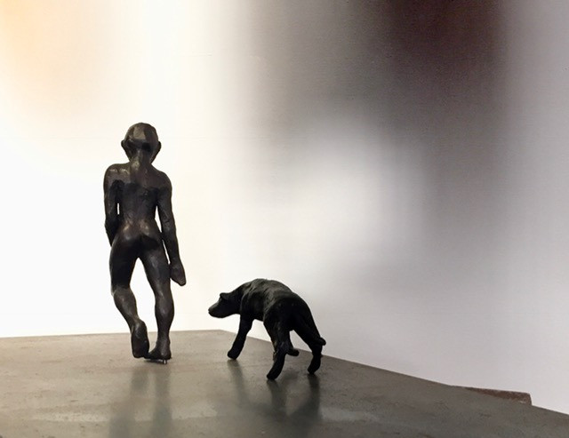 """""""Boy and His Dog"""" Bronze"""