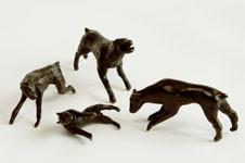 """Dog fight"" Bronze"