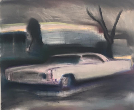 """Old Caddy Before the Storm"" (SOLD)"