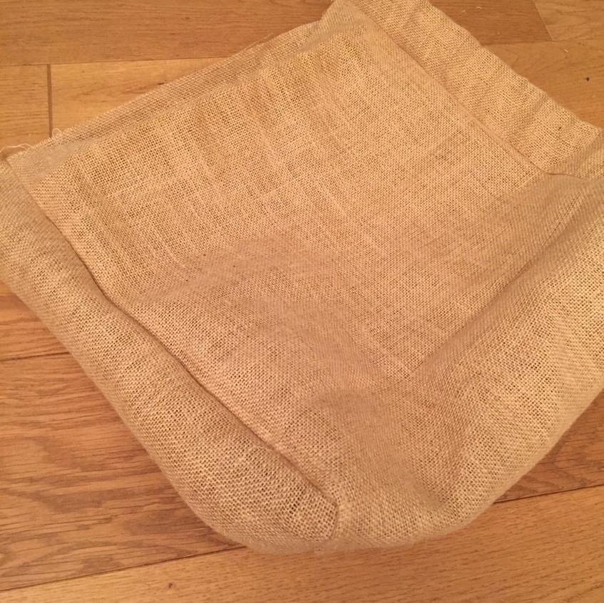 Jute bag sewed