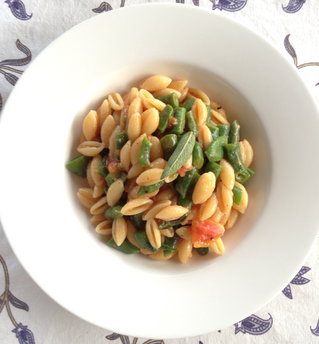 Gnocchetti Sardi with Beans, Tomatoes & Sage