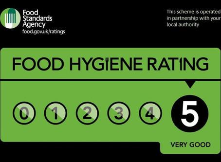 5 Star Food rating!