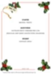 Christmas menu 2 to 4 pax