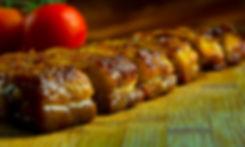 juicy tender glazed roast pork belly  豚の腹  Schweinebauch