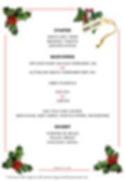 Christmas menu 5 to 7 pax