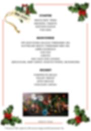 Christmas menu 8 to 10 pax