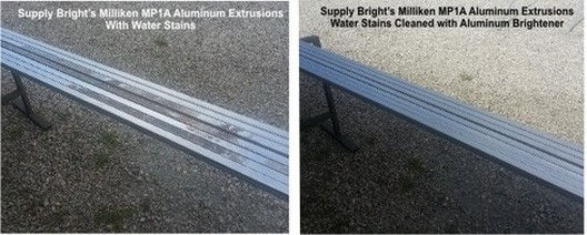 Before and after using Aluminox on Aluminum