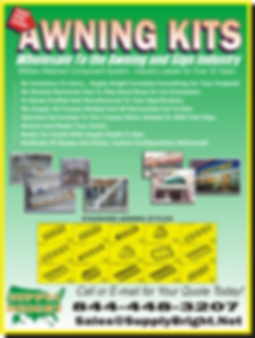 Complete awning kits from Supply Bright
