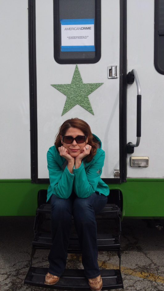 Waiting at my trailer on American Crime