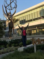 GiGi in front of Emmy
