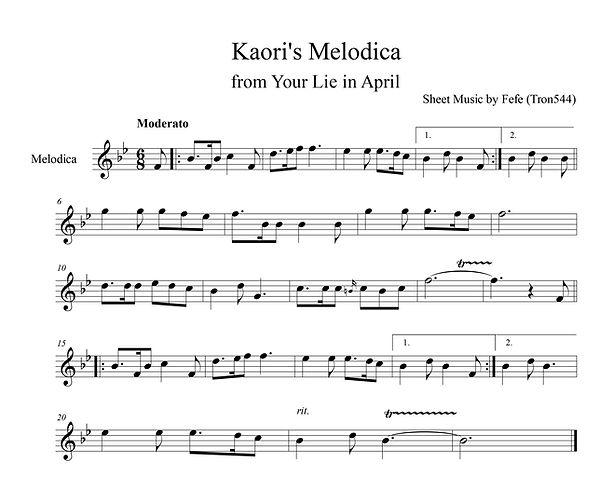 Kaori's Melodica - Sheet Music.jpg