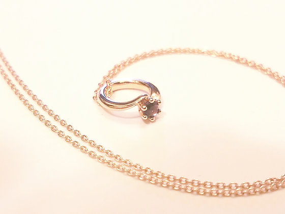 生日石項鏈︰2月 紫晶