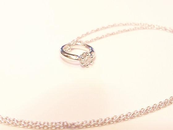 生日石項鏈︰4月 鑽石