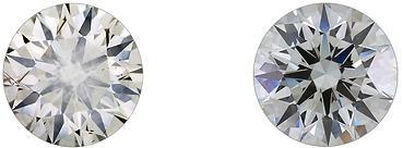 無螢光鑽石 有螢光鑽石 diamond