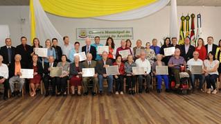 Câmara de Vereadores de Aratiba realiza Sessão Solene de Homenagens