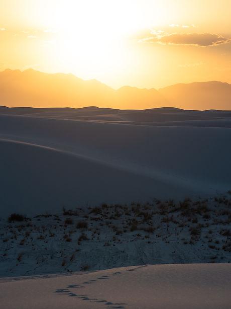 White Sands National Monument, Sand, Desert, Dunes, Sunset