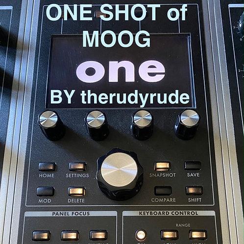 One Shot Sample Bank vol.1 Moog ONE