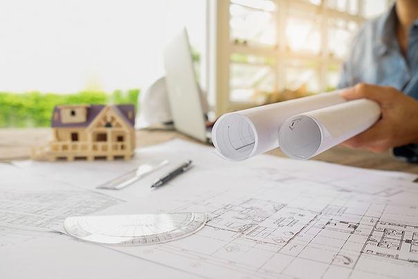 תמונה של שרטוטים אדריכליים