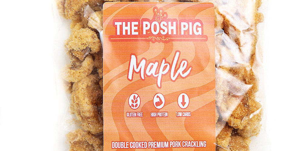 Maple flavoured Pork Crackling - Refill Bag - 100g