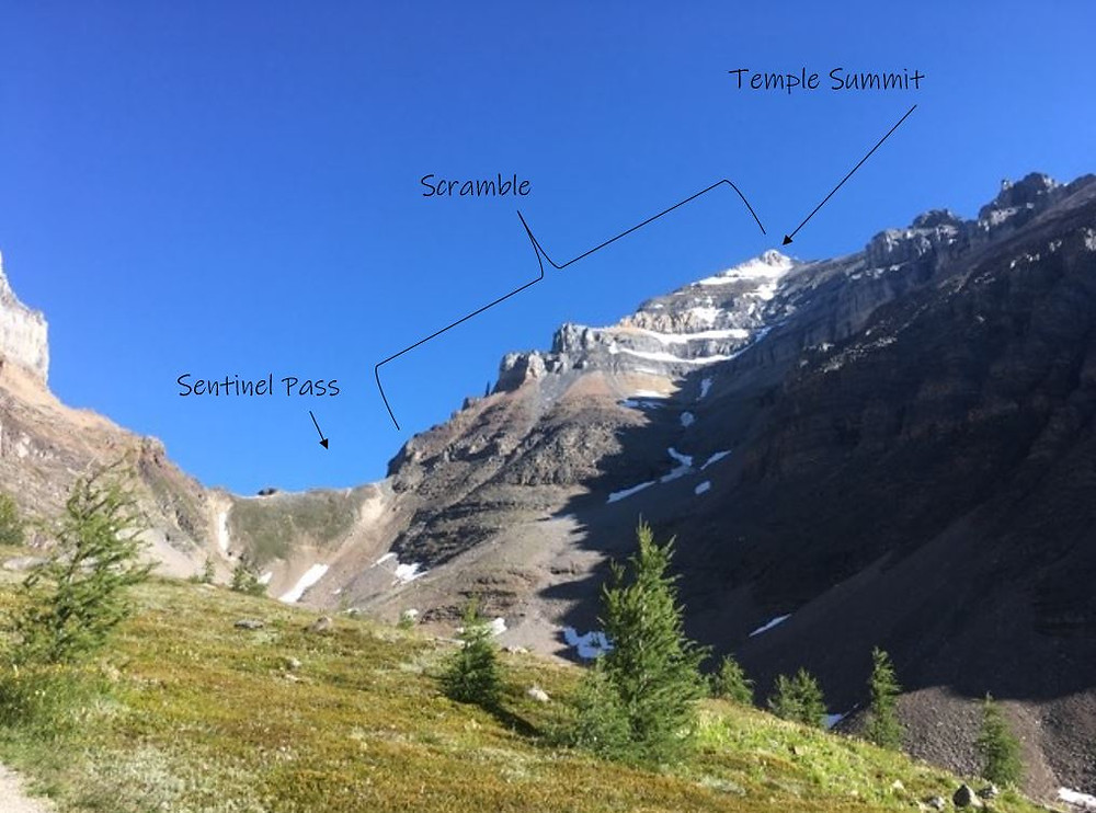 Mount Temple Scramble from Sentinel Pass